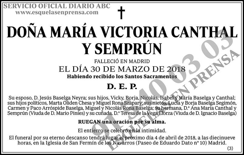 María Victoria Canthal y Semprún